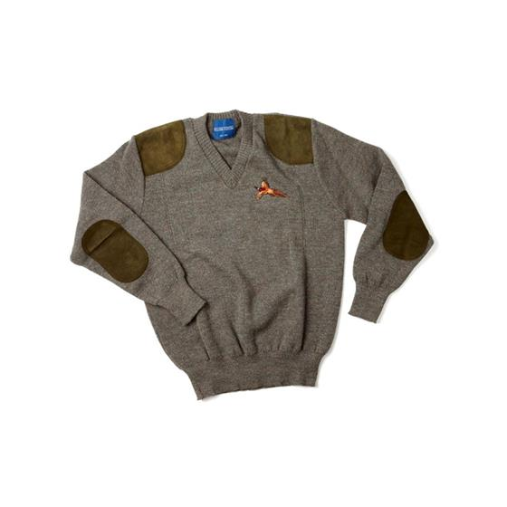 William Powell Rutland Sweater with Pheasant Motif
